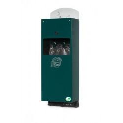 Distributeur 3 en 1 pour déjections canine - vert mousse - RAL 6005 - Netcollectivités