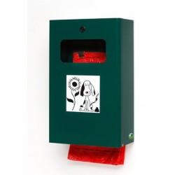 Distributeur 2 en 1 pour déjections canine - vert mousse - RAL 6005 - Netcollectivités