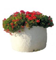 Jardinière ronde pour municipalité en pierre reconstituée
