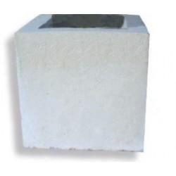 Jardinière cube mobilier urbain en pierre reconstituée - Netcollectivités