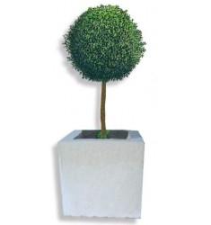 Jardinière cube pierre reconstituée - pour ville