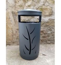 Corbeille en métal Mandurah à découpes végétales
