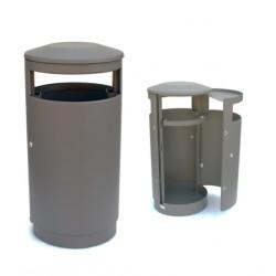 Poubelle métal Mandurah lisse - Net Collectivités