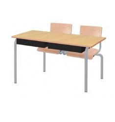 Table et chaise scolaire monobloc