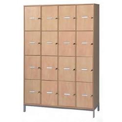 Visuel meuble 16 casiers portes pleines professeur - Net Collectivités