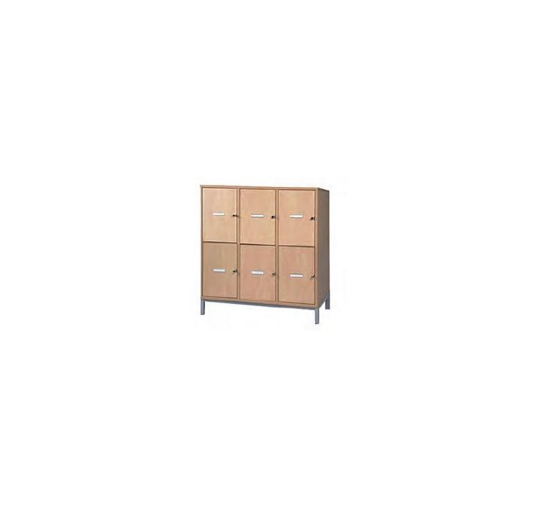 Meuble casiers vestiaires enseignants mobilier scolaire for Meuble 6 casiers