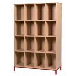 Visuel meuble 16 casiers ouverts professeur - Net Collectivités