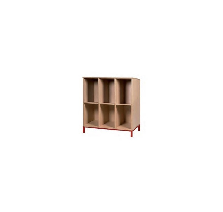 Meuble casiers ouverts enseignants mobilier scolaire for Meuble 6 casiers