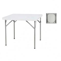 Visuel de la table pliante en polypro carré - Net Collectivités