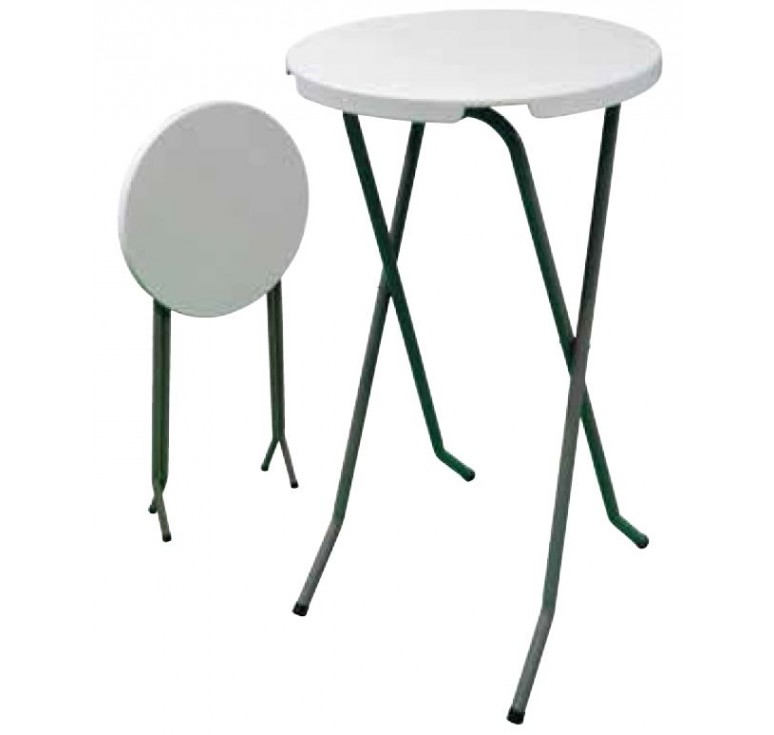 gu ridon mange debout pliant table de bistrot pliante en polypro. Black Bedroom Furniture Sets. Home Design Ideas