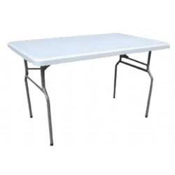 Table en polypro pliante et légère 122 x 76 cm - Net Collectivités