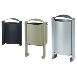 Corbeille en acier Arelate 40 L 60 L ou 100 L