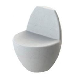 Banc siège public design ovoïde en béton modèle Oeuf - Net Collectivites