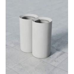 Corbeille TUBE en béton vendue à l'unité - Net Collectivités
