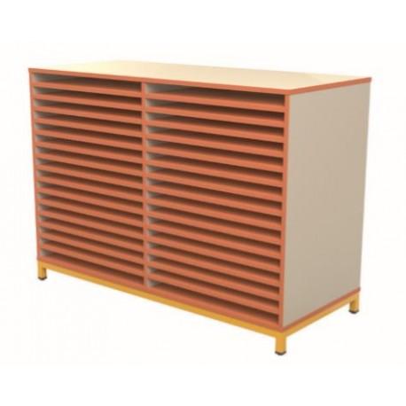 meuble dessin maternelle double meuble de rangement pour papier format raisin. Black Bedroom Furniture Sets. Home Design Ideas