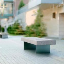 Banquette publique design Tilto pour centres anciens - Net Collectivites