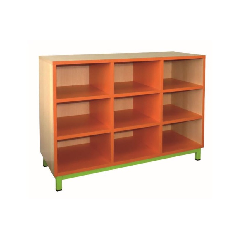 Meuble casier 9 cases mobilier maternelle mobilier scolaire for Meuble 9 cases