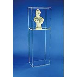 Vitrine colonne pour buste de Mairie modèle DORIOT Hauteur 45 cm - Net Collectivités