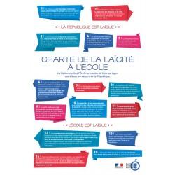 Charte de la Laïcité - plaque affiche d'intérieur - Net Collectivités