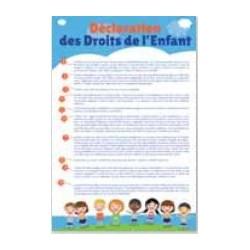 Déclaration des Droits de l'Enfant - Plaque intérieure pour collectivités - Net Collectivites