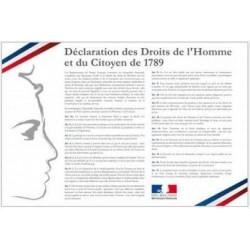 Déclaration des Droits de l'Homme - Loi Peillon - Plaque intérieure d'affichage pour collectivités