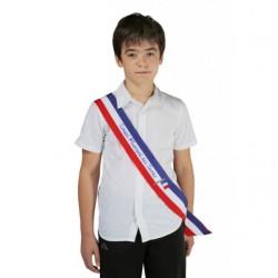 Écharpe tricolore imprimée pour jeune élu CMJ ou CME - Net Collectivités