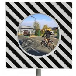 Miroir carré pour aide à la circulation routière - gamme éco - Net Collectivités