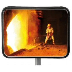 Miroir rectangle multi-usage intérieur / extérieur - Inox