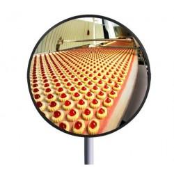 Miroir rond multi-usage sécurité voie privée - tout Inox - Agro-alimentaire