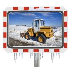 Miroir de circulation en industrie - rectangulaire - anti-givre