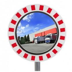 Miroir rond inox de circulation en industrie antivandalisme