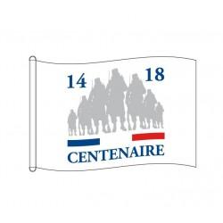 """Pavillon à hisser sur mât de la commémoration du""""Centenaire 14-18"""" - Net Collectivites"""