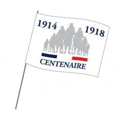 """Lot de drapeaux à agiter spécial commémoration du""""Centenaire 14-18"""""""