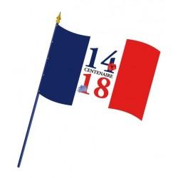 """Visuel du drapeau """"Centenaire 14-18"""" - 60 x 90 cm - modèle bleuet - Net Collectivités"""