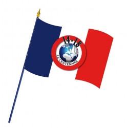 """Visuel du drapeau tricolore """"Centenaire 14-18"""" - 60 x 90 cm - modèle cocarde"""