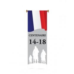 """Visuel oriflamme tricolore """"Centenaire 14-18"""" à suspendre"""