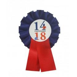"""Cocarde tricolore spéciale """"Centenaire 14-18"""""""