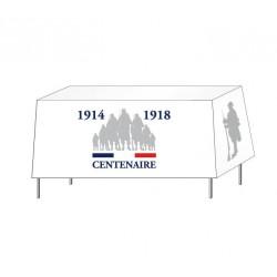 """Nappe pour table de réception rectangulaire - spéciale commémoration """"Centenaire 14-18"""""""