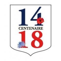 """Écusson porte-drapeaux - spécial commémoration """"Centenaire 14-18"""" - modèle bleuet"""