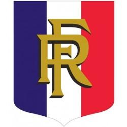 Visuel de l'écusson porte-drapeaux - Tricolore + RF - Gamme éco
