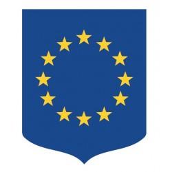 Écusson porte-drapeaux - Union Européenne en PVC châssis en bois