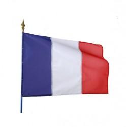 Visuel du drapeau tricolore - achetez drapeau fabriqué en France - Net Collectivités