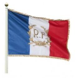 Le pavillon tricolore France RF + Palmes personnalisation offerte - Net Collectivités