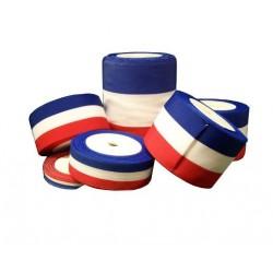 Ruban tricolore pour cérémonies ou inaugurations - largeur de 12 à 100 mm