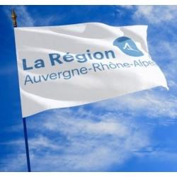 Le drapeau de la Région Auvergne Rhône Alpes - Net Collectivités