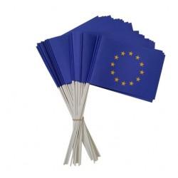 Lot de 50 ou 100 drapeaux Union Européenne en papier à agiter - Net Collectivités