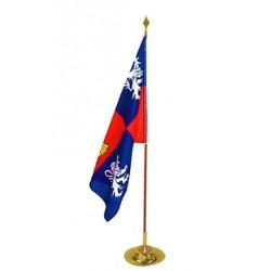 Drapeau prestige pour mairie - Province française - 97 x 150 cm - en satin