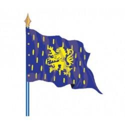 Drapeau sur hampe de comté ou provinces historiques de la France - pour collectivités ou associations - Net Collectivités