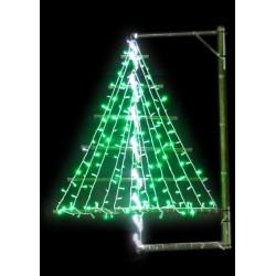Décoration de Noël pour ville : le Sapin en Bambou - décoration pour candélabre