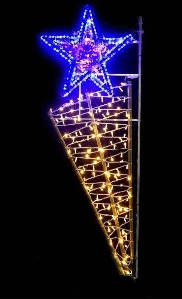 Etoile Filante Lumineuse De Noel Pour Candelabre Etoile Filante